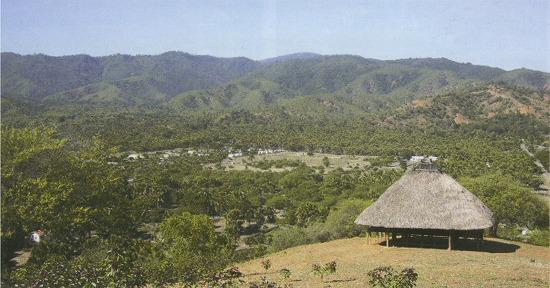 聖イグナチオ・ロヨラ学院の建設予定地風景(写真中央部の広い土地)