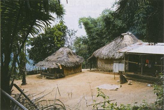 ディリ郊外の山間部にある民家