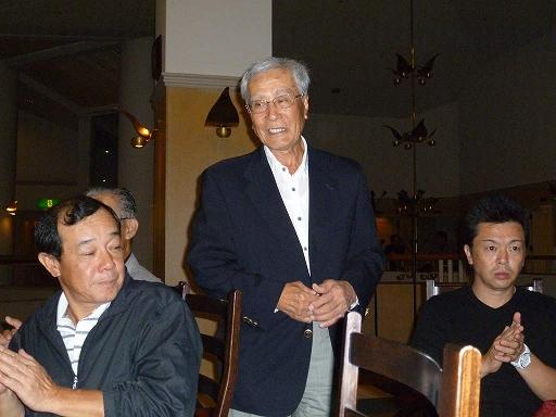 大串安弘前会長の締めのご挨拶で、楽しかったゴルフコンペも無事に終わりました。