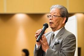 10期卒 中島幸男 同窓会副会長の閉会挨拶