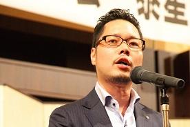 50期幹事 若杉朗仁実行委員長の挨拶